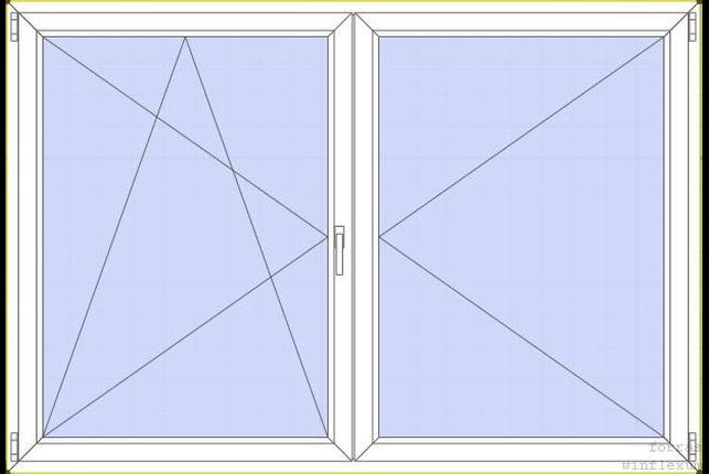 Közepén felnyíló-bukó nyíló ablak