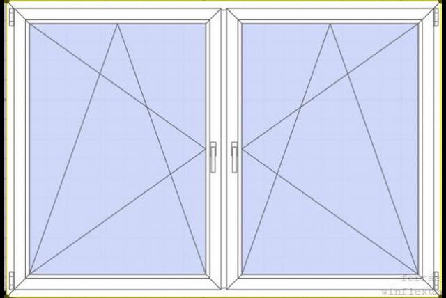 Tokosztott bukó-nyíló-bukó-nyíló ablak