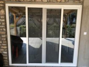 Tolópályás szúnyogháló ajtó