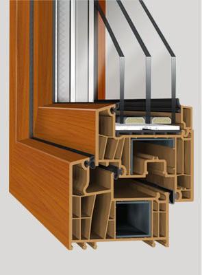 decco 83, 7 legkamras muanyag ajto, premium muanyag bejarati ajto, 44mm es muanyag ablak, szines muanyag ablak
